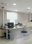 REV Diffuser Installed Over Reception Desk