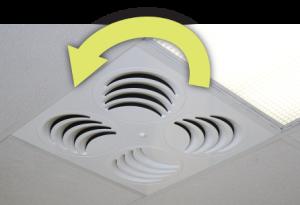 REV Adjustable Ceiling DIffuser