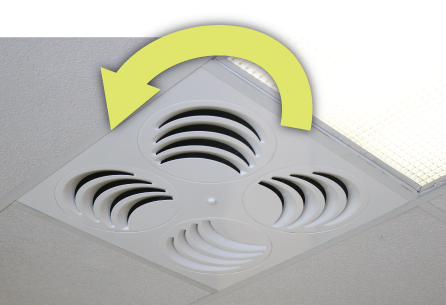 REV Adjustable Ceiling DIffuser