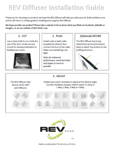 REV Diffuser Installation Guide